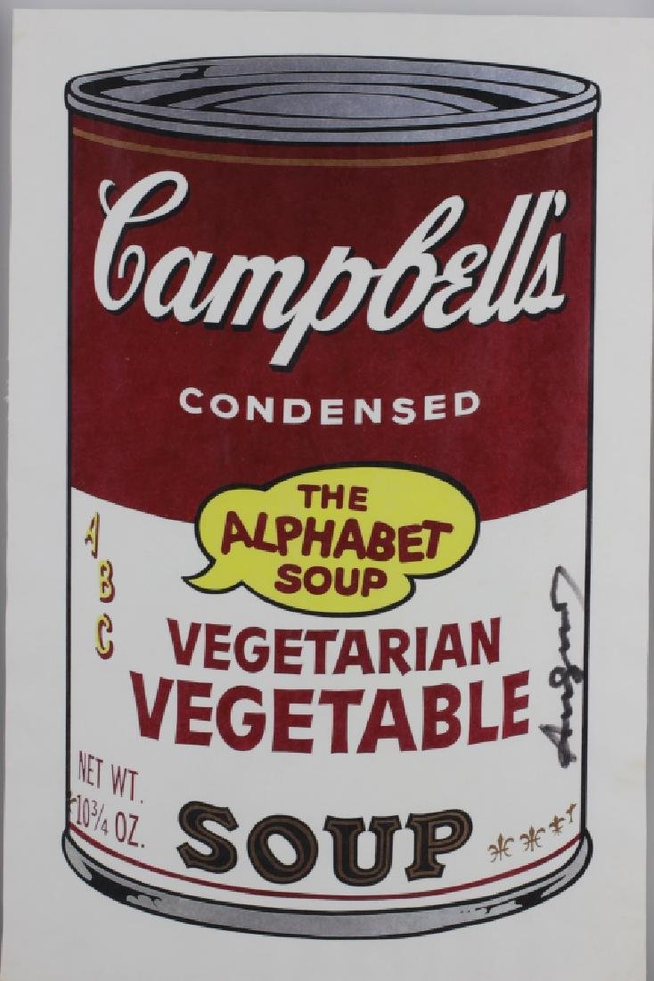 Campbell Soup Silkscreen Print, Signed Andy Warhol - 3