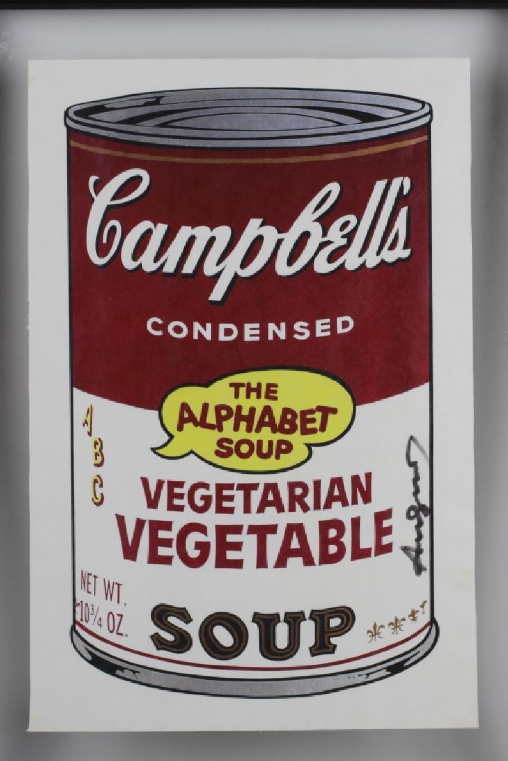 Campbell Soup Silkscreen Print, Signed Andy Warhol - 4