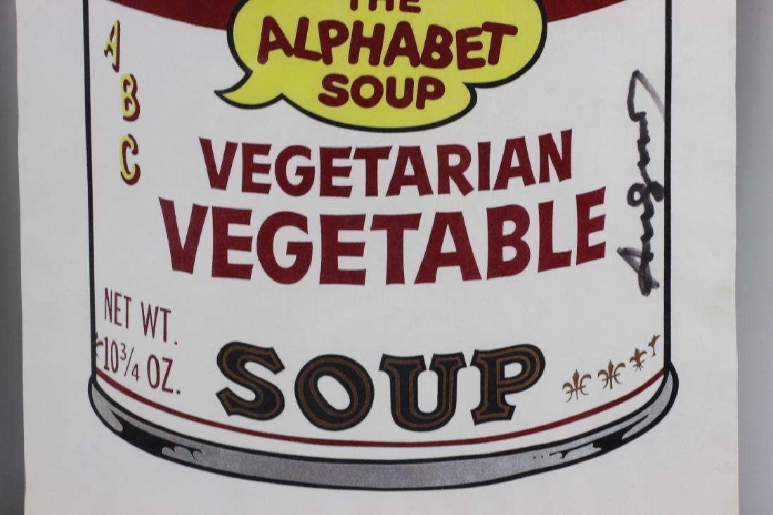 Campbell Soup Silkscreen Print, Signed Andy Warhol - 6