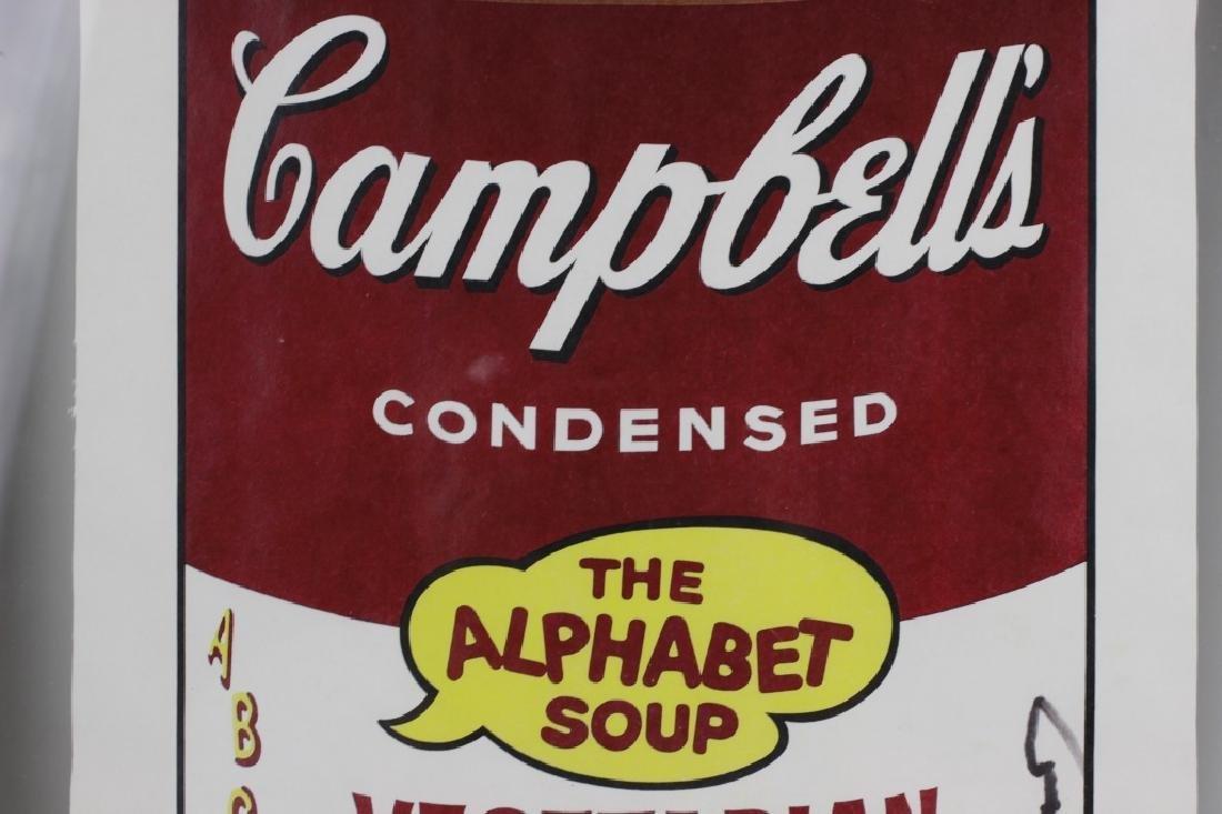 Campbell Soup Silkscreen Print, Signed Andy Warhol - 7
