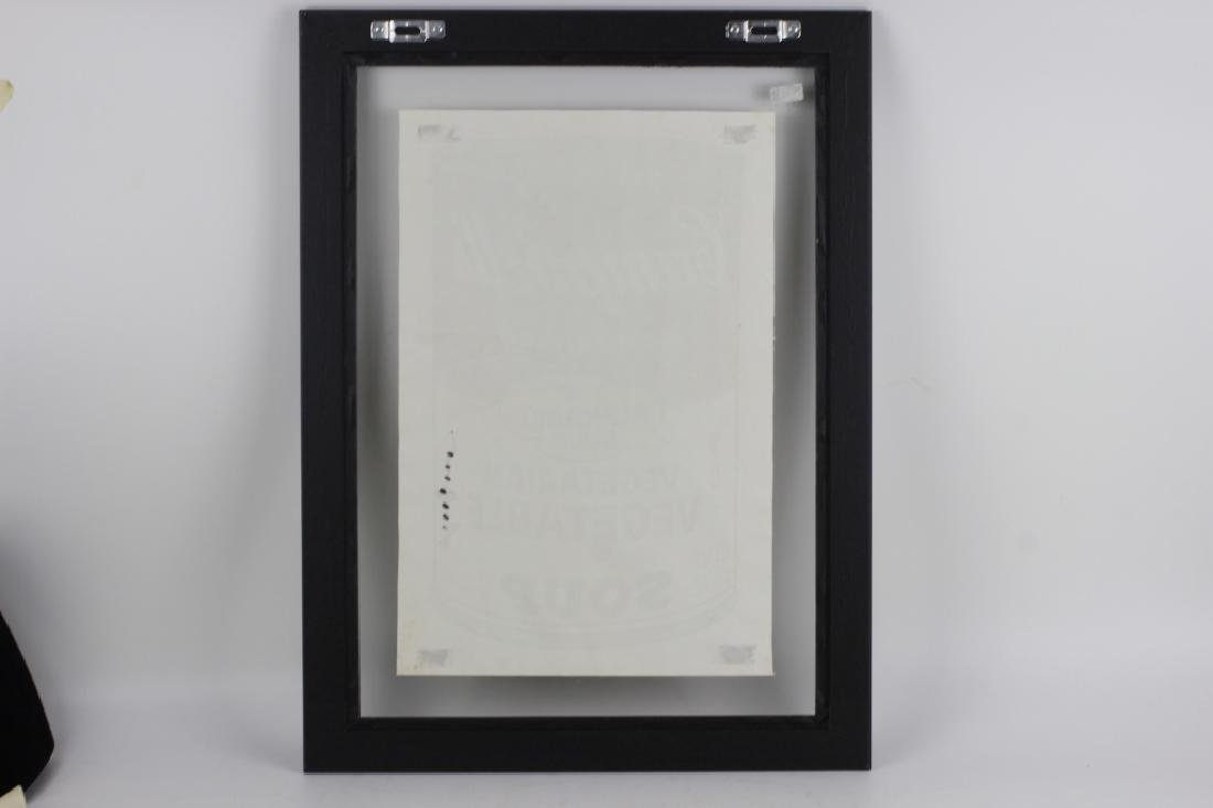 Campbell Soup Silkscreen Print, Signed Andy Warhol - 8