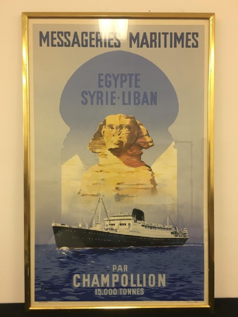 French Ocean Liner Poster