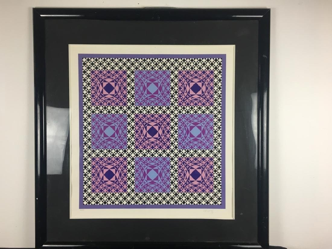 Signed Lithograph, Victor Vasarely, 36/250