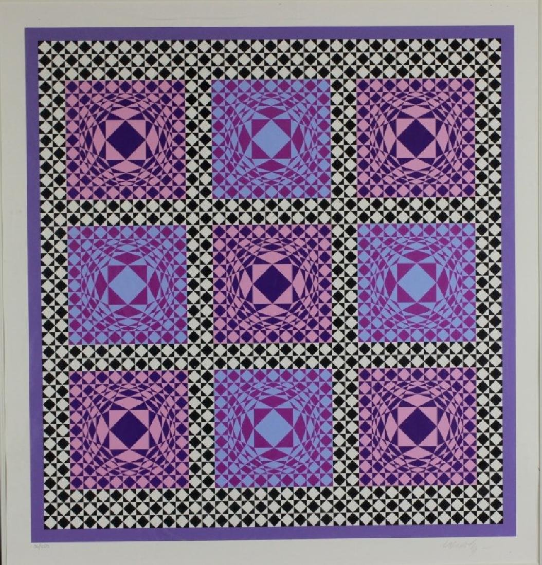 Signed Lithograph, Victor Vasarely, 36/250 - 2