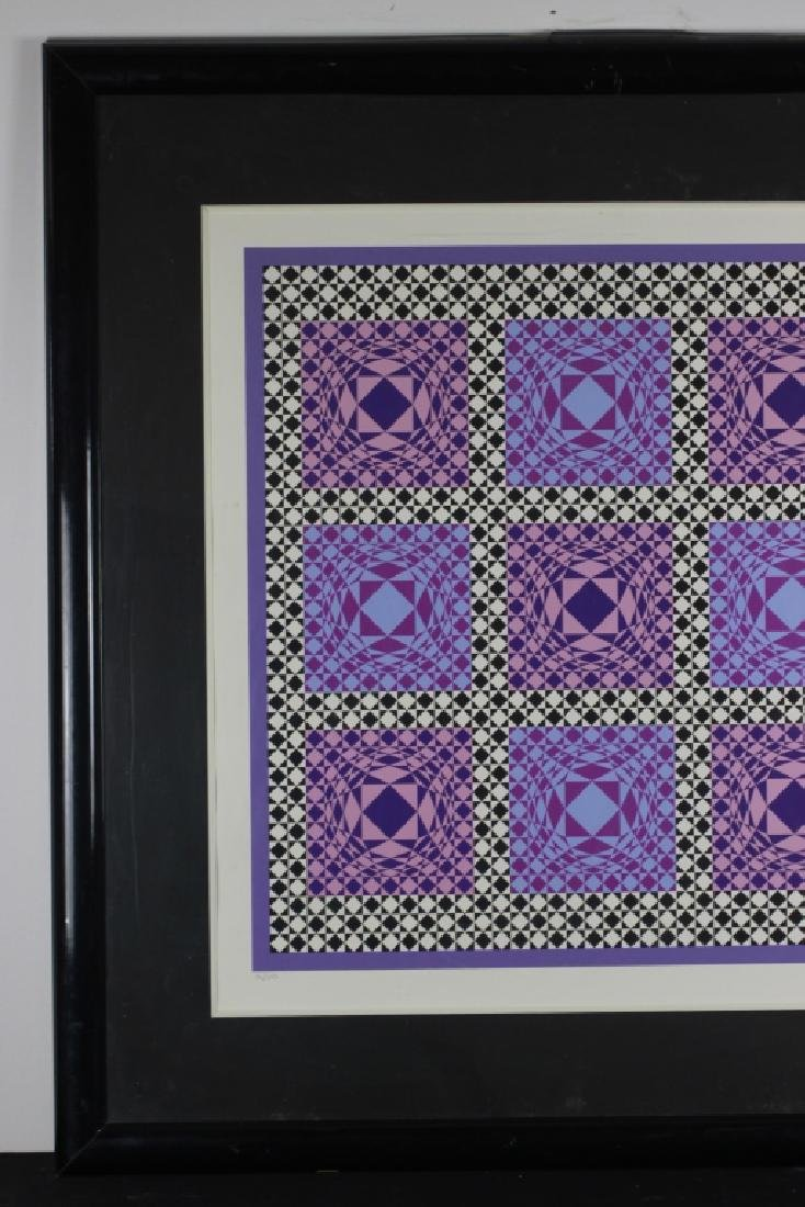 Signed Lithograph, Victor Vasarely, 36/250 - 4