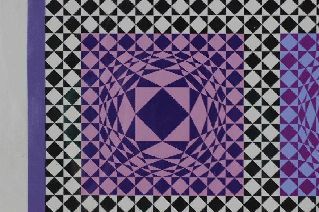 Signed Lithograph, Victor Vasarely, 36/250 - 7