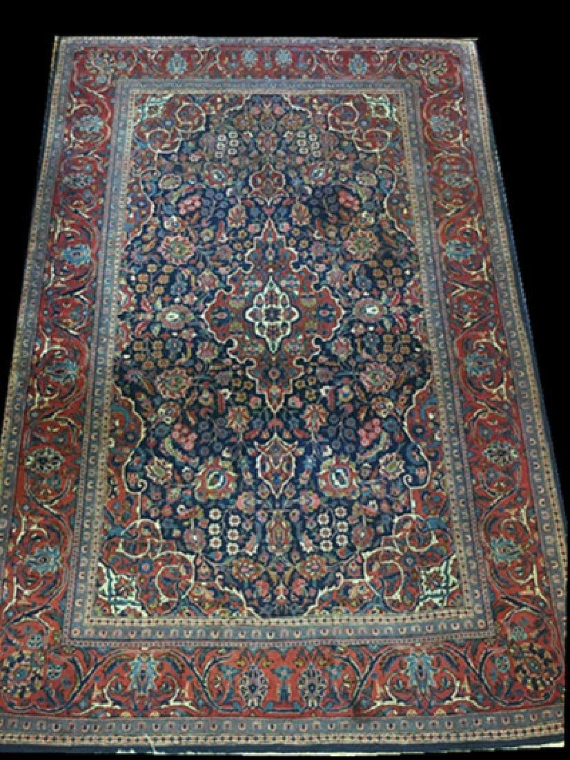 Pair of Semi- Antique Kashan Persian Rugs - 2