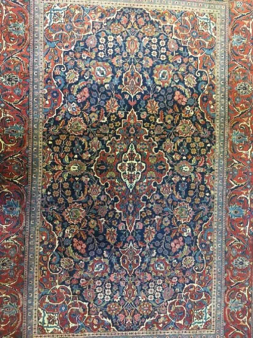 Pair of Semi- Antique Kashan Persian Rugs - 3