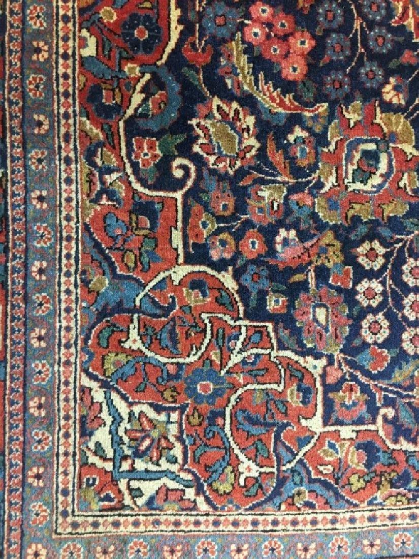 Pair of Semi- Antique Kashan Persian Rugs - 4