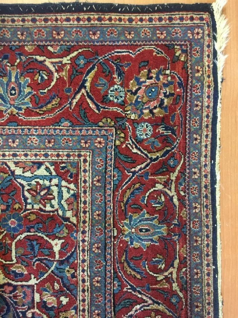 Pair of Semi- Antique Kashan Persian Rugs - 5