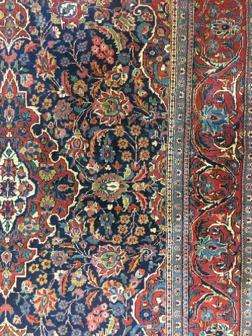 Pair of Semi- Antique Kashan Persian Rugs - 6
