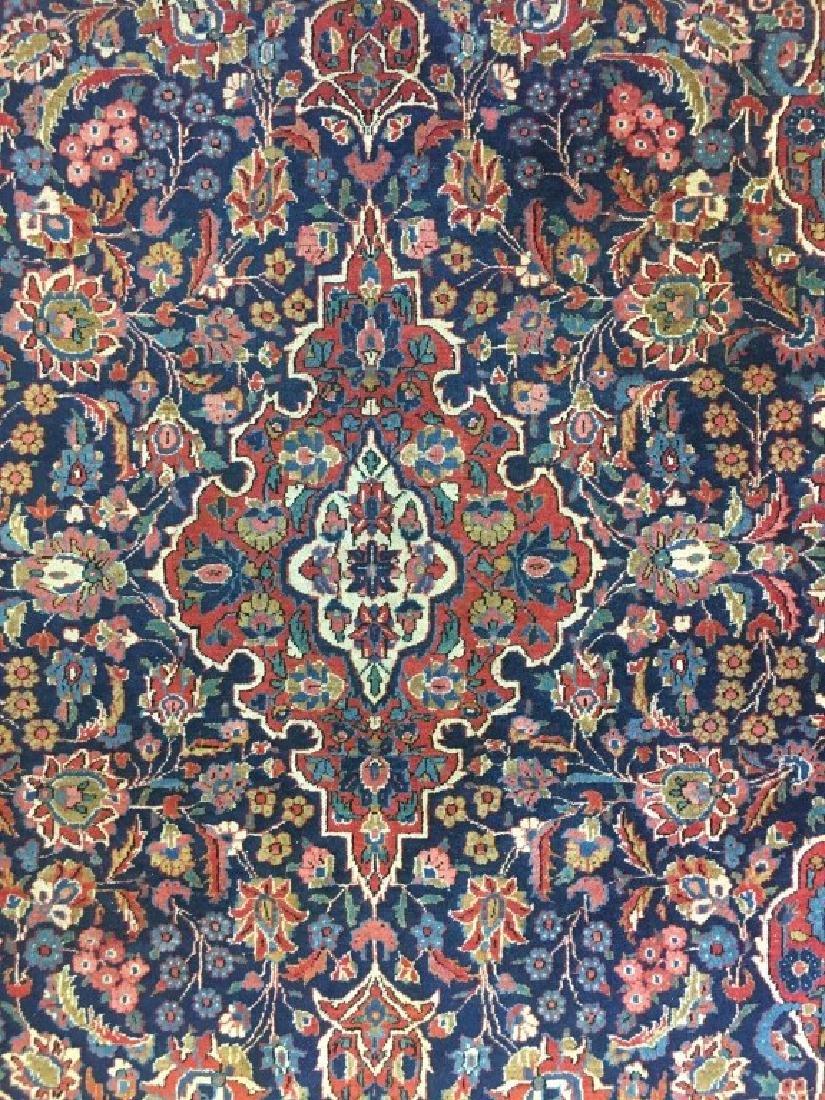 Pair of Semi- Antique Kashan Persian Rugs - 7