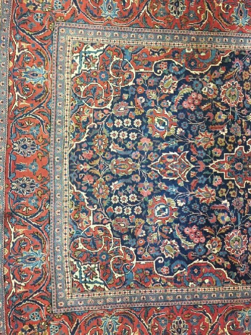 Pair of Semi- Antique Kashan Persian Rugs - 8