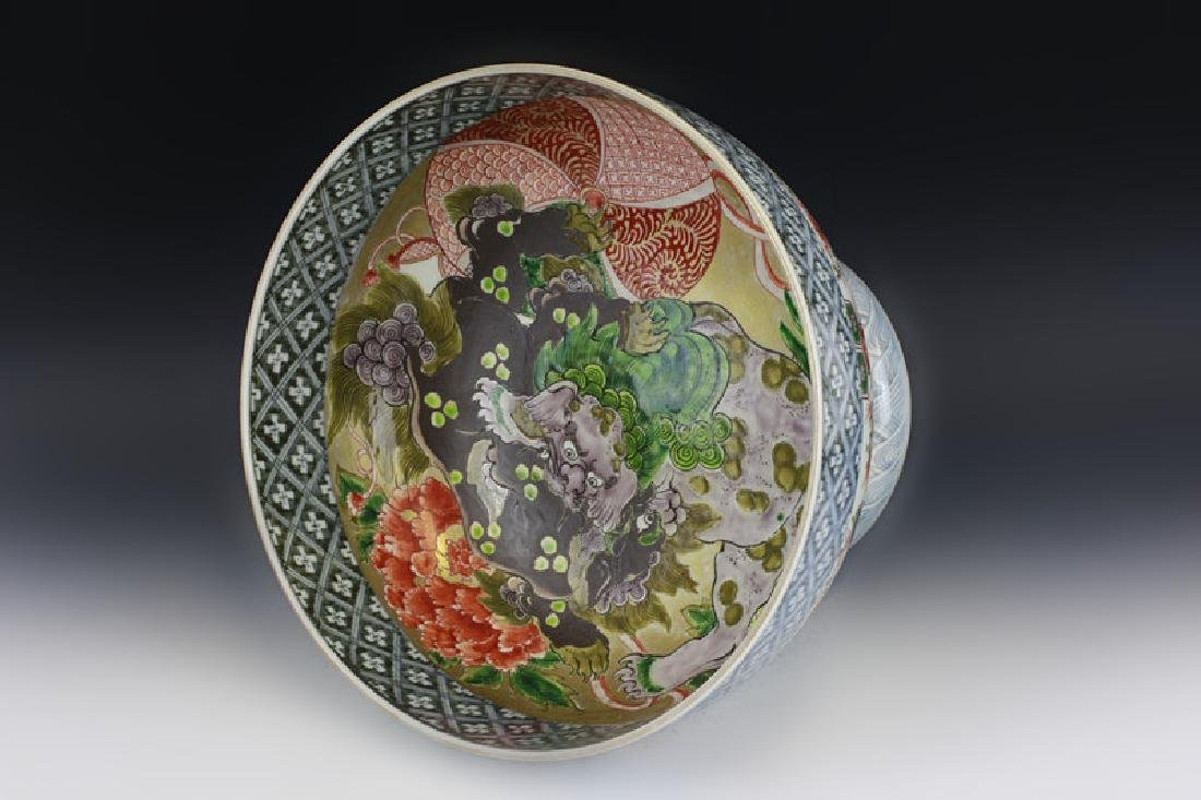 Japanese or Chinese Large Footed Bowl - 9