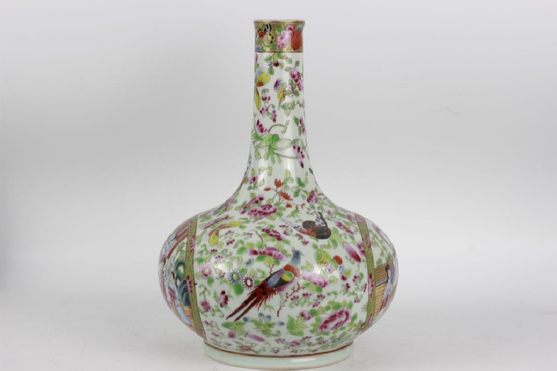 Chinese Rose Medallion Porcelain Vase - 2
