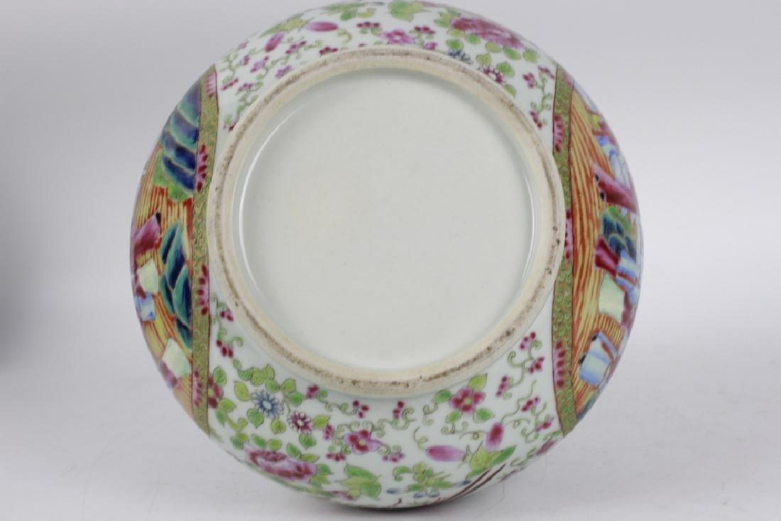 Chinese Rose Medallion Porcelain Vase - 5