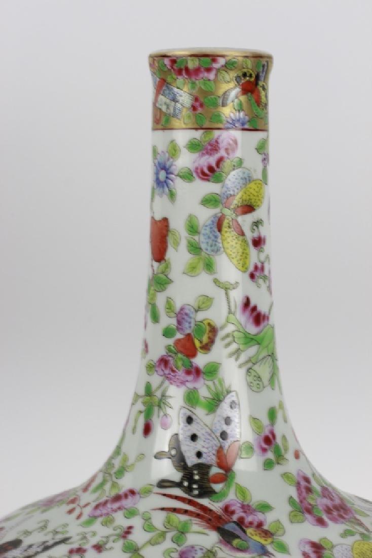 Chinese Rose Medallion Porcelain Vase - 7