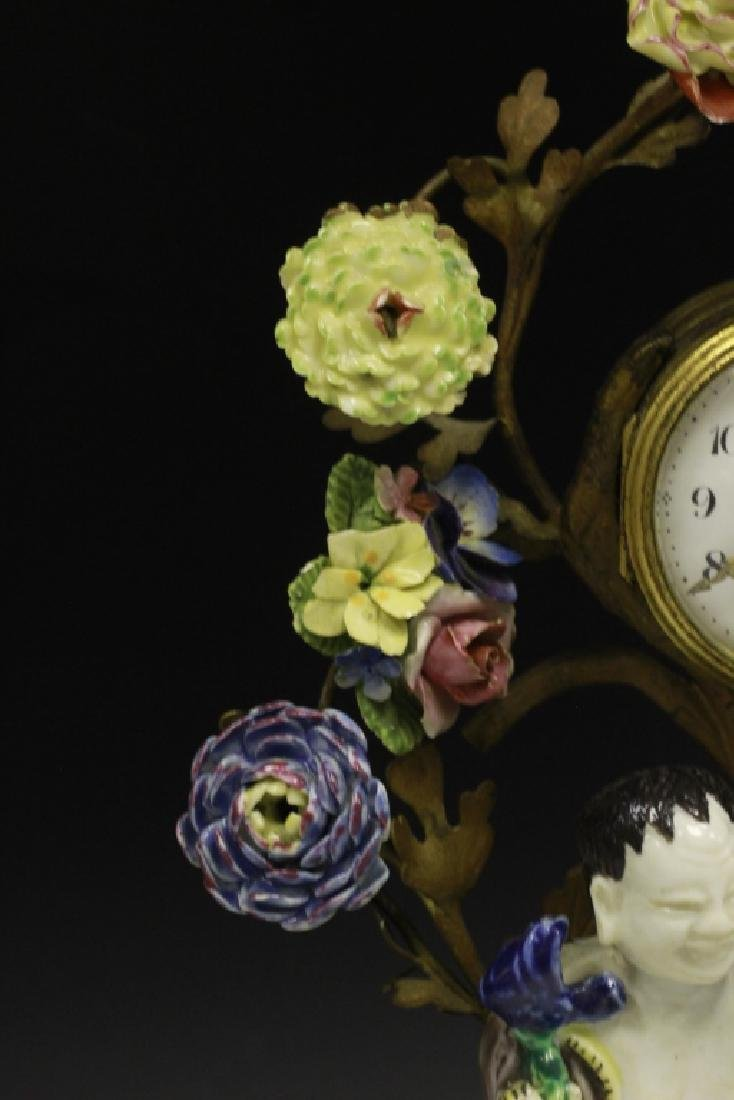 19thc Chinese Porcelain Clock w/ French Bronze - 4