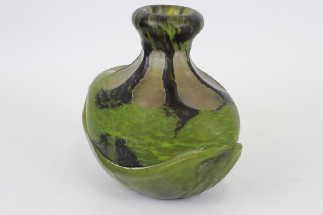 Daum Nancy Green Vase - 9