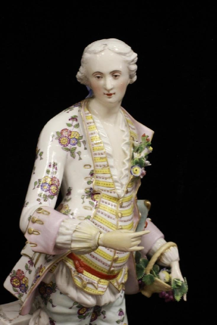 Pair of Early 20thc Large Signed Porcelain Figures - 10