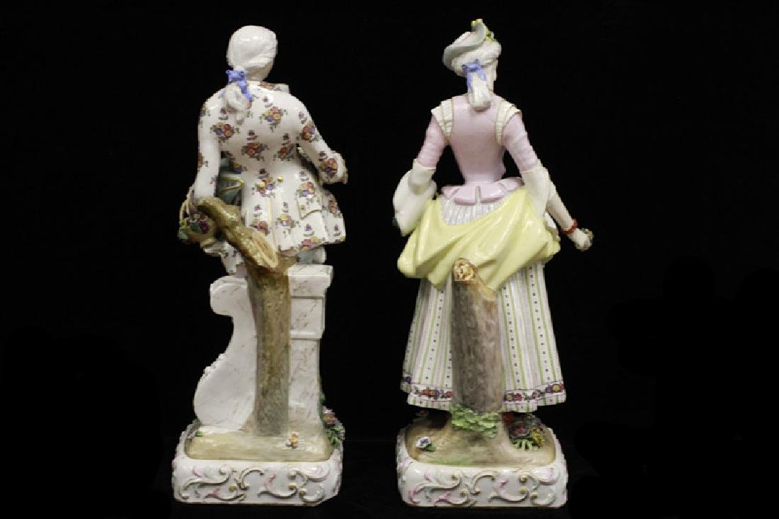 Pair of Early 20thc Large Signed Porcelain Figures - 3
