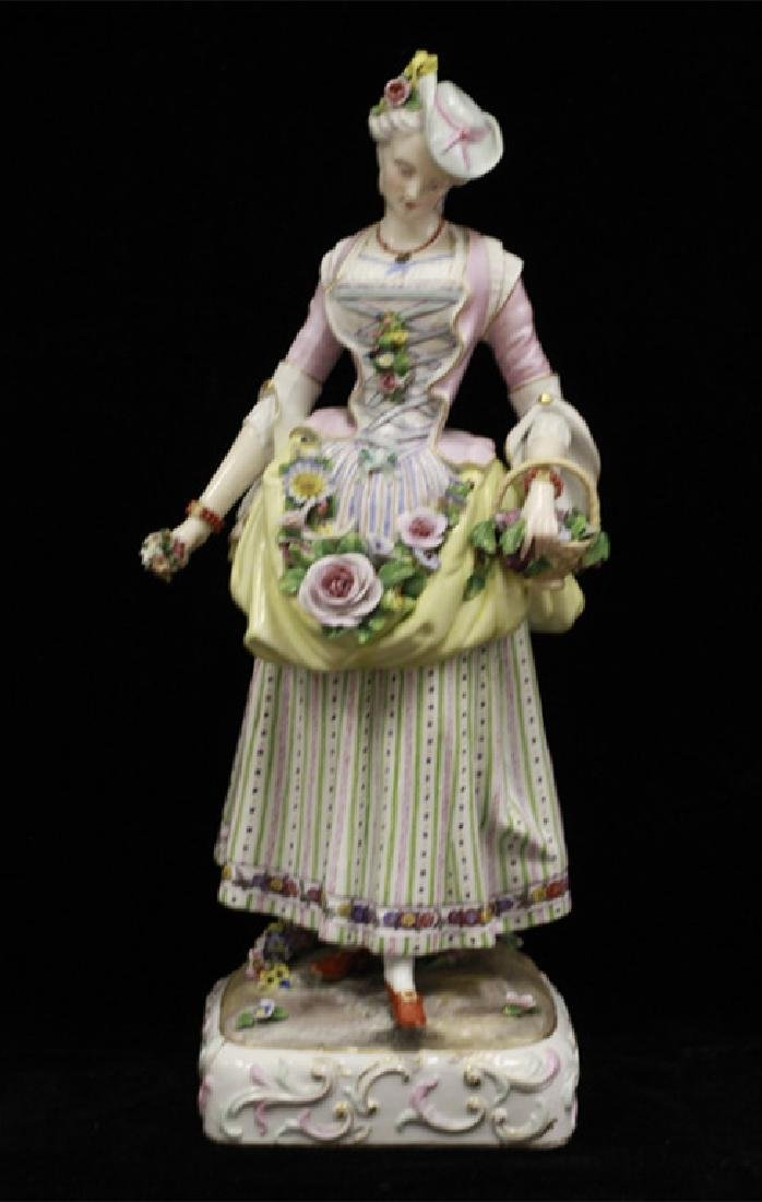 Pair of Early 20thc Large Signed Porcelain Figures - 7