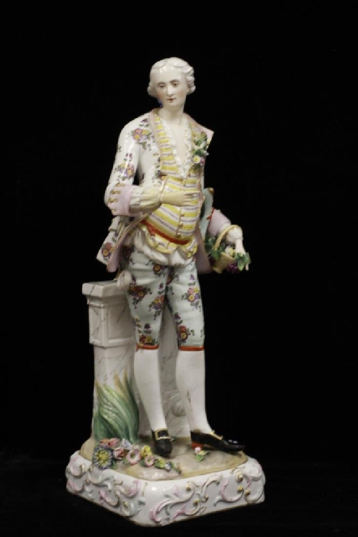 Pair of Early 20thc Large Signed Porcelain Figures - 8
