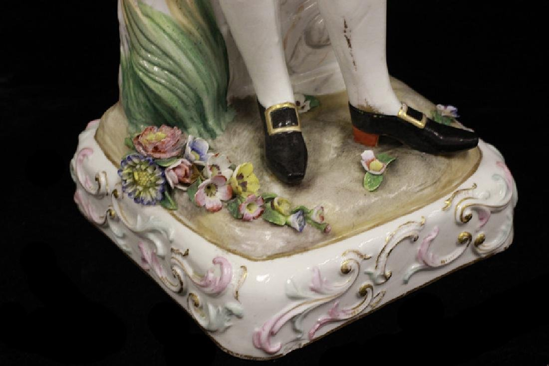 Pair of Early 20thc Large Signed Porcelain Figures - 9