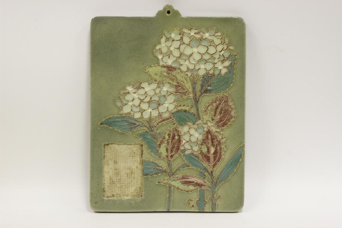 Ceramic Plaque, Signed on Back