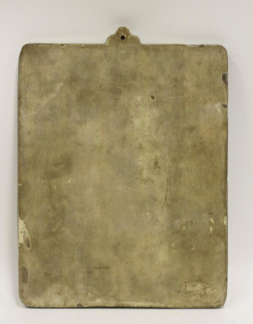 Ceramic Plaque, Signed on Back - 8