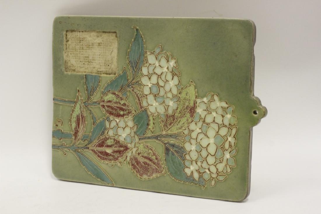 Ceramic Plaque, Signed on Back - 9