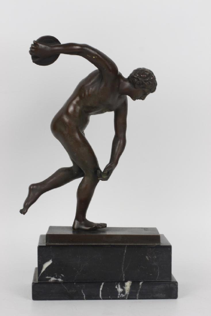 Early Bronze Figure of a Discus Thrower