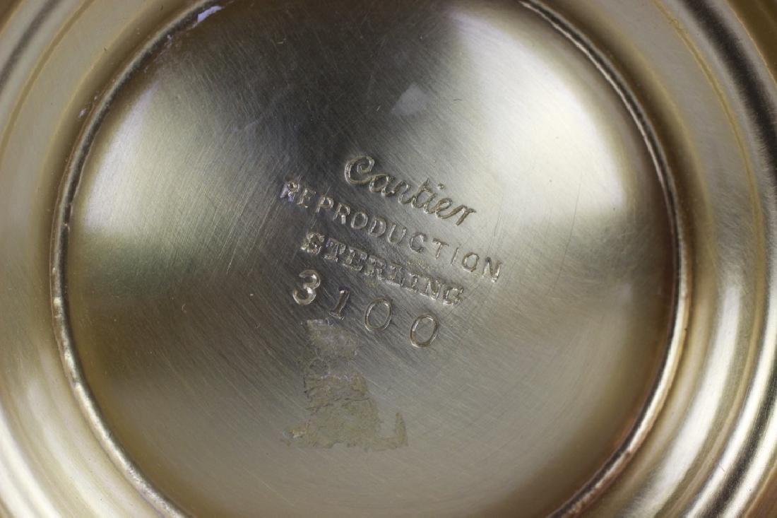 Cartier Sterling Silver Gilt 3 Piece Coffee Set - 8