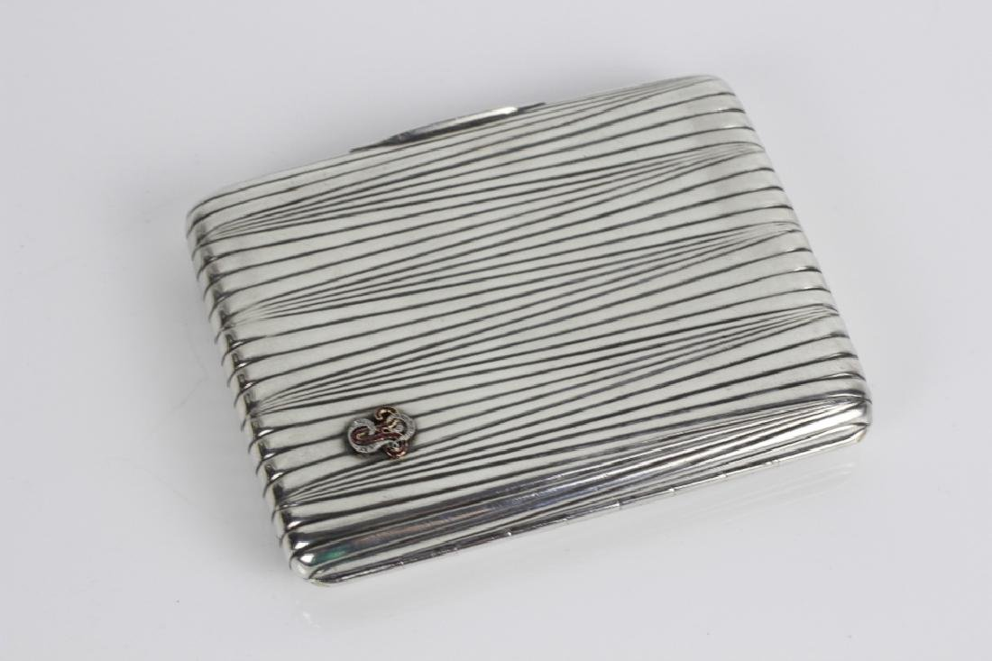 Russian Antique Silver Cigarette Box - 3