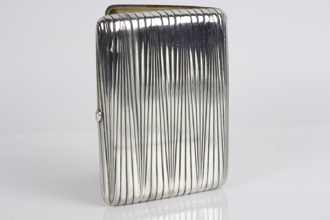 Russian Antique Silver Cigarette Box - 4