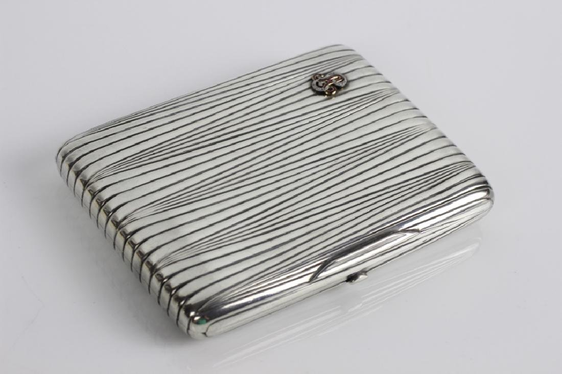 Russian Antique Silver Cigarette Box - 8