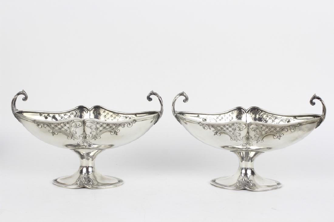 Pair of Sterling Silver Center Bowls