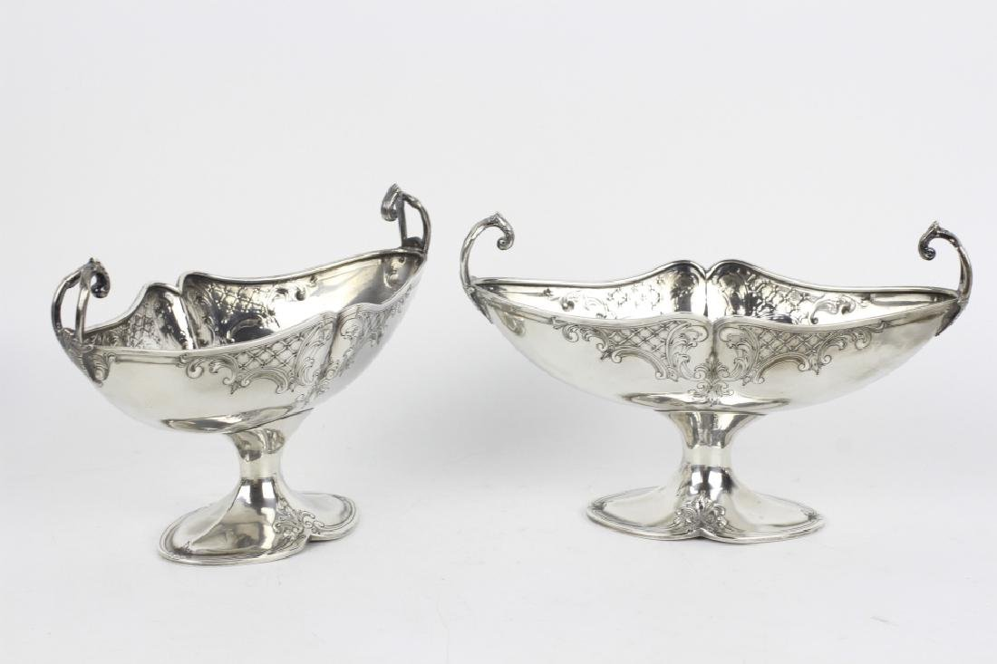 Pair of Sterling Silver Center Bowls - 3