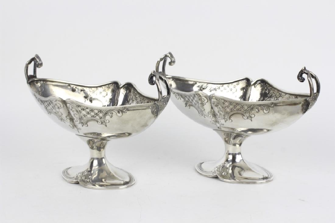 Pair of Sterling Silver Center Bowls - 4