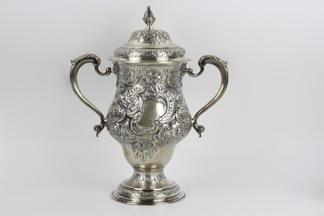 Early Georgian Silver Covered Cup, 2 Handled