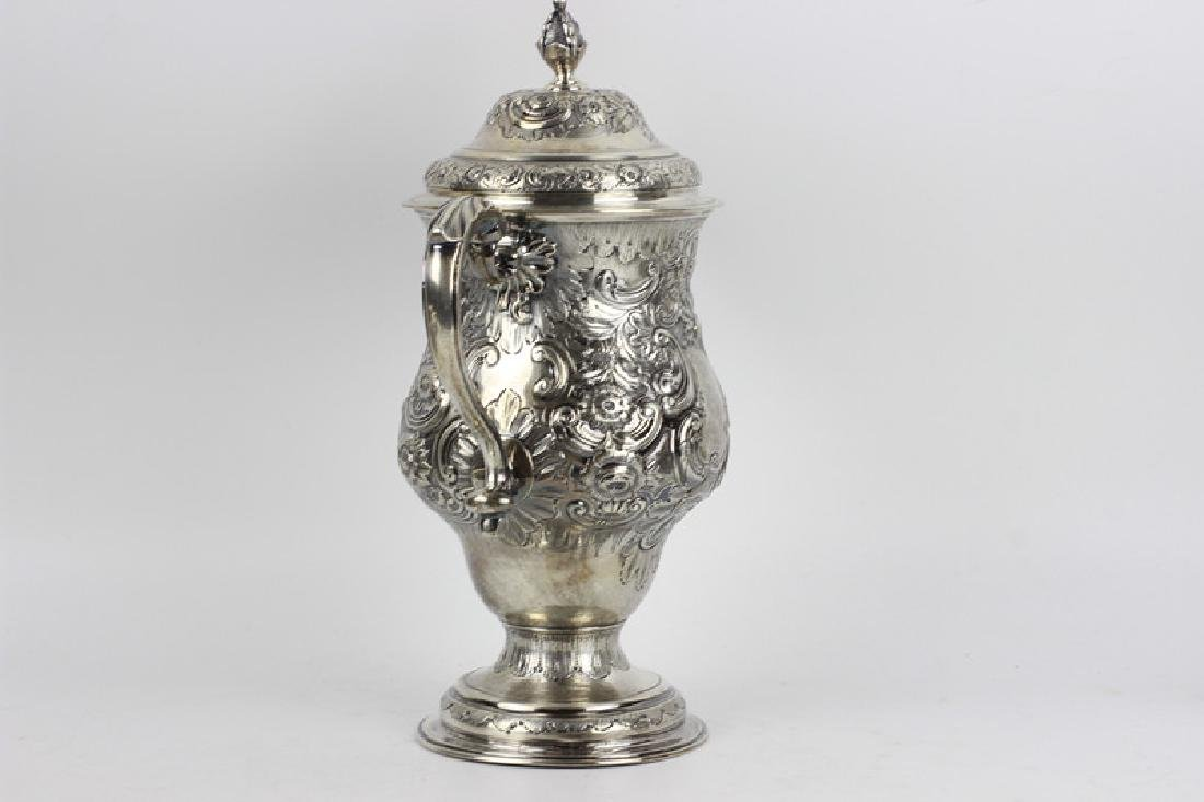 Early Georgian Silver Covered Cup, 2 Handled - 2