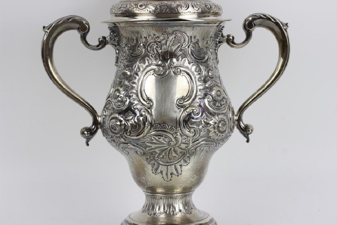 Early Georgian Silver Covered Cup, 2 Handled - 3