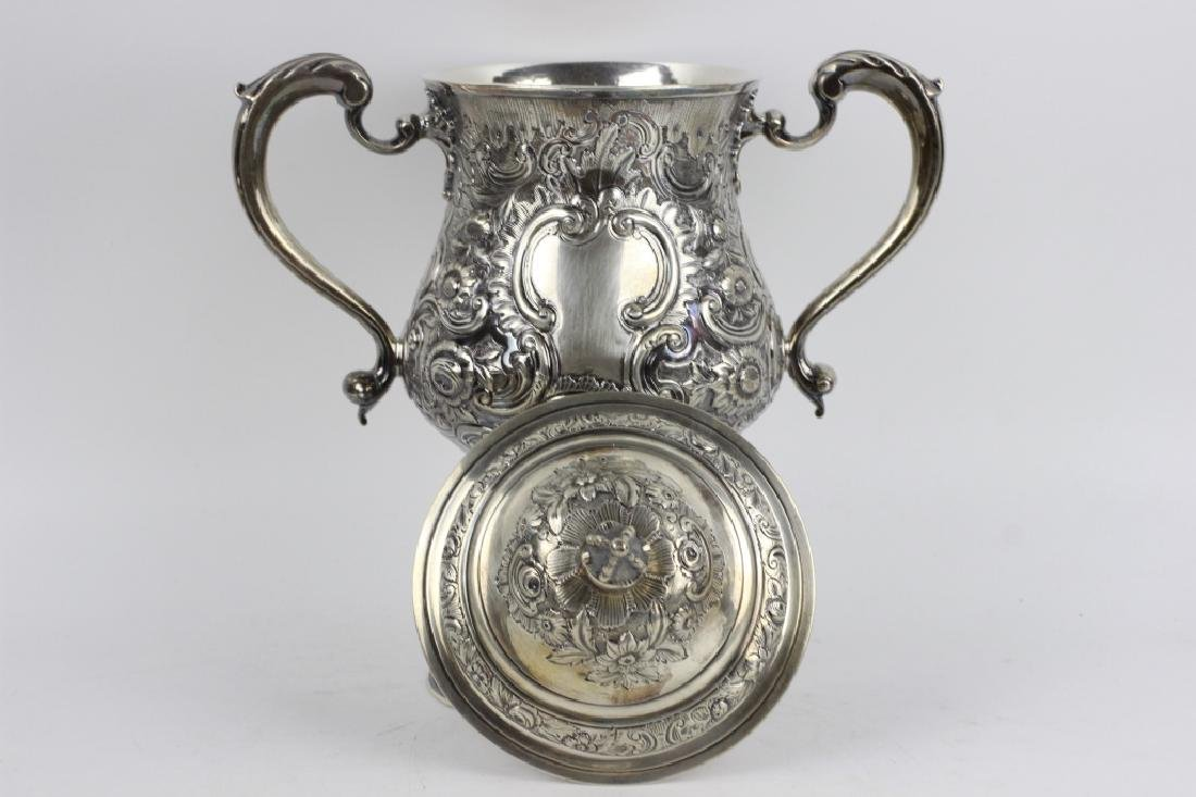 Early Georgian Silver Covered Cup, 2 Handled - 4