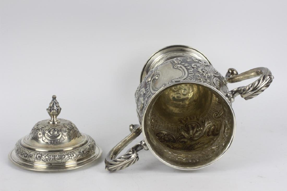 Early Georgian Silver Covered Cup, 2 Handled - 8