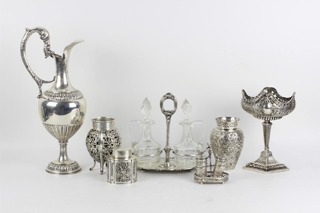 7 Pc Continental Silver Lot