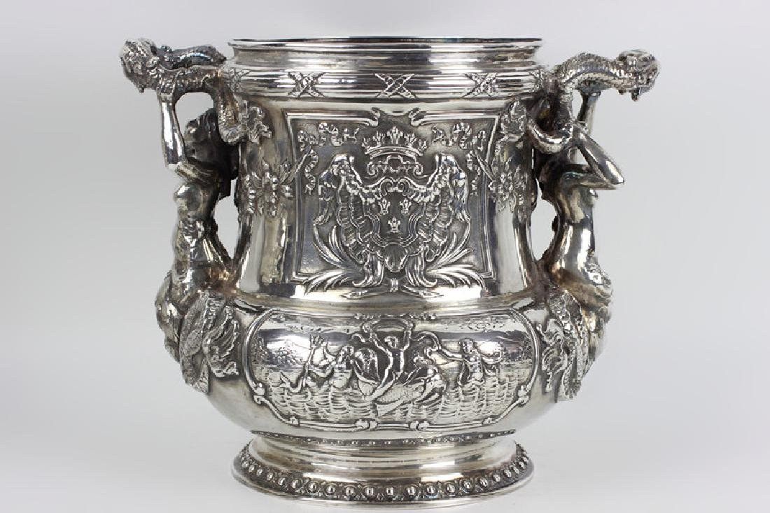 Unusual Sterling Silver Wine Cooler