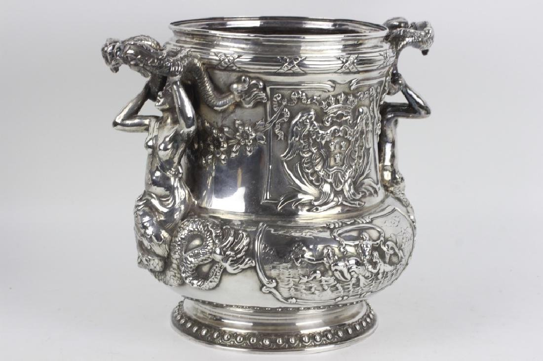 Unusual Sterling Silver Wine Cooler - 3