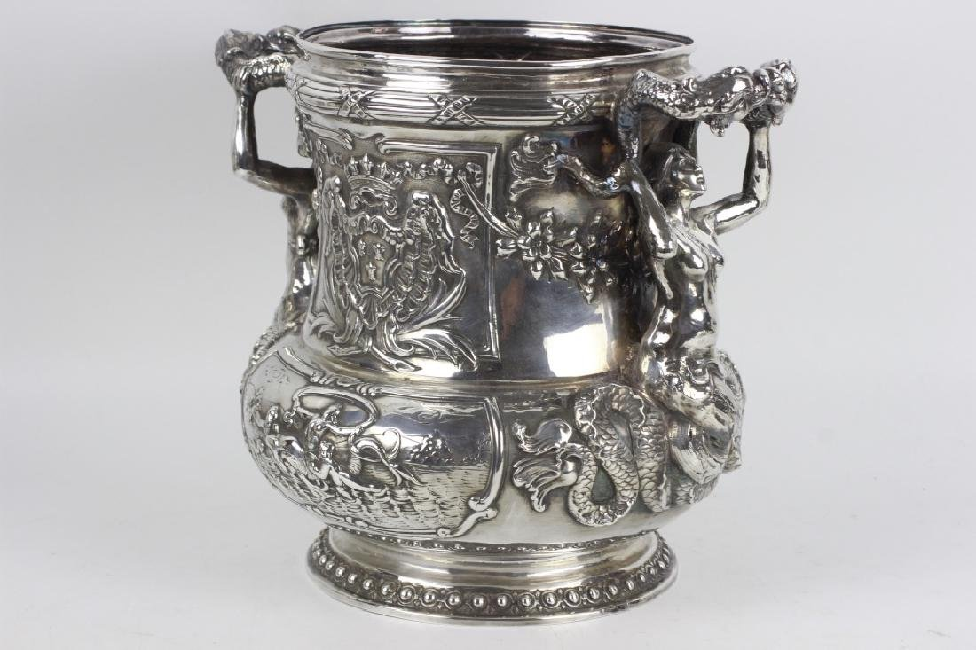 Unusual Sterling Silver Wine Cooler - 4