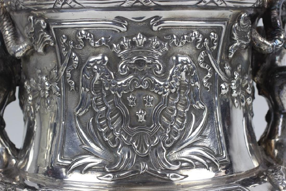 Unusual Sterling Silver Wine Cooler - 5