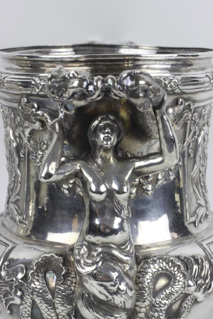 Unusual Sterling Silver Wine Cooler - 7